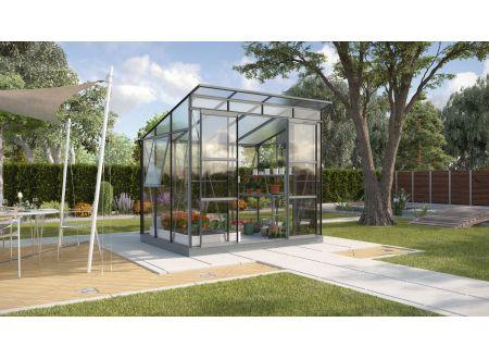 Gewächshaus Freya 5,9m² ESG/HKP anthrazit bei handwerker-versand.de günstig kaufen
