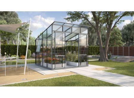 Gewächshaus Freya 7,6m² ESG/HKP anthrazit bei handwerker-versand.de günstig kaufen