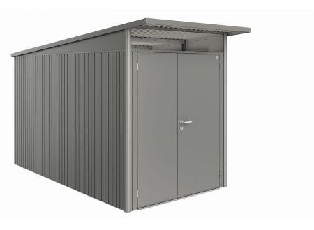 Gerätehaus AvantGarde Größe:A4 Ausführung:Doppeltür Farbe:quarzgrau-metallic