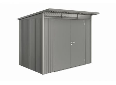Gerätehaus AvantGarde Größe:A5 Ausführung:Doppeltür Farbe:quarzgrau-metallic
