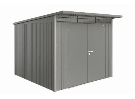 Gerätehaus AvantGarde Größe:A7 Ausführung:Doppeltür Farbe:quarzgrau-metallic