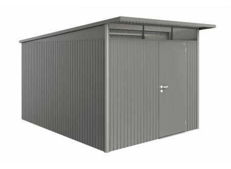 Gerätehaus AvantGarde Größe:A8 Ausführung:Standardtür Farbe:quarzgrau-metallic