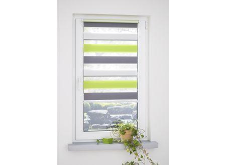 Liedeco Klemmfix Duo-Rollo mini dreifarbig grün-grau-weiß 120 x 160 cm bei handwerker-versand.de günstig kaufen