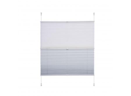 Liedeco Klemmfix-Plissee Day und Night weiß/weiß 060 x 130 cm bei handwerker-versand.de günstig kaufen