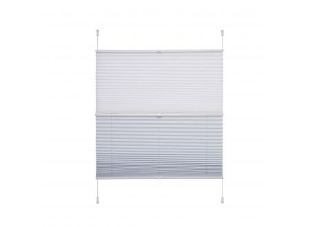 Liedeco Klemmfix-Plissee Day und Night weiß/weiß 100 x 130 cm bei handwerker-versand.de günstig kaufen