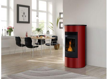 Wamsler Pelletofen PO 81 grau 8,5kW Farbe:rosso