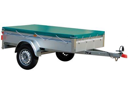 Stema Flachplane Farbe grün für PKW Anhänger BASIC ST Ausführung:210 x 128 cm