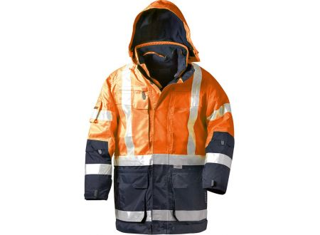 E/D/E Logistik-Center Warnschutzparka Wallace 4in1 orange Größe:M