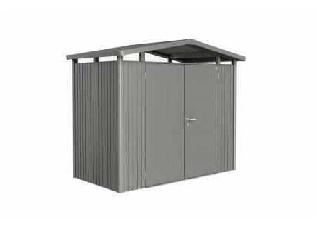 Gerätehaus Panorma Gr. P1  Farbe:quarzgrau-metallic Ausführung:Doppeltür