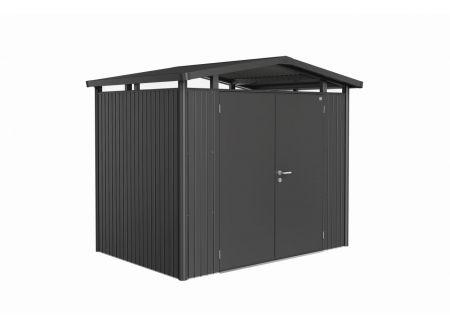 Gerätehaus Panorma Gr. P2  Farbe:dunkelgrau-metallic  Ausführung:Doppeltür