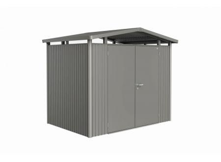 Gerätehaus Panorma Gr. P2  Farbe:quarzgrau-metallic Ausführung:Doppeltür