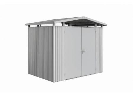 Gerätehaus Panorma Gr. P2  Farbe:silber-metallic Ausführung:Doppeltür