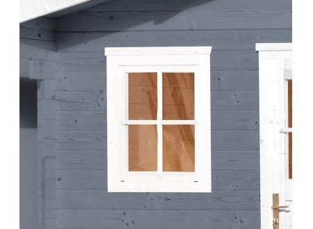 Weka Einzelfenster für Gartenhaus Farbe:weiß