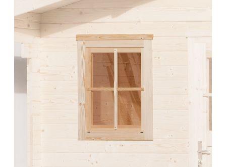 Weka Einzelfenster für Gartenhaus 45 mm Maße:69x79cm