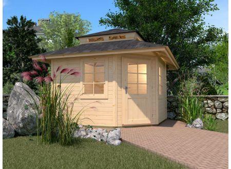 Weka Gartenhaus 149 A 5Eck mit Dachaufsatz Größe:Größe 1