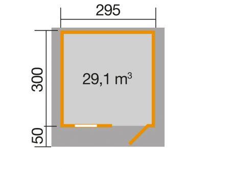 Weka Gartenhaus 170 Größe:Größe 3