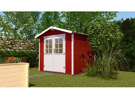 Gartenhaus 218  Größe:Größe 3 Farbe:schwedenrot