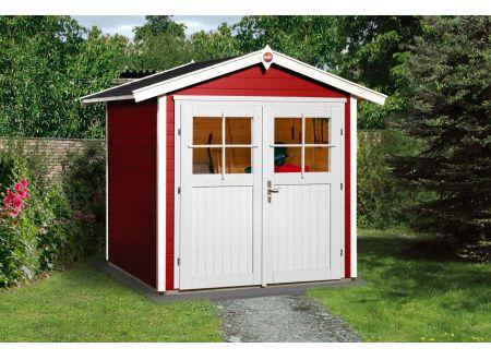 Weka Gartenhaus 224 Größe:Größe 1 Farbe:schwedenrot