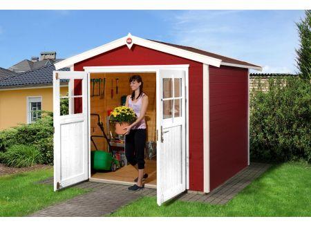 Weka Gartenhaus 224 Größe:Größe 3 Farbe:schwedenrot