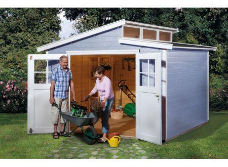 Gartenhaus 226 Größe:Größe 4 Farbe:grau