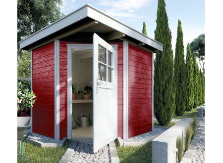 Weka Gartenhaus 229 Größe:Größe 1 Farbe:schwedenrot