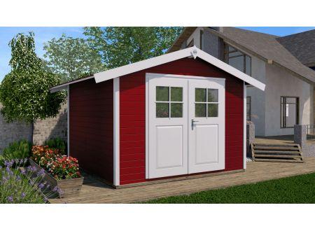 Weka Gartenhaus 122 Größe:Größe 2 Farbe:schwedenrot
