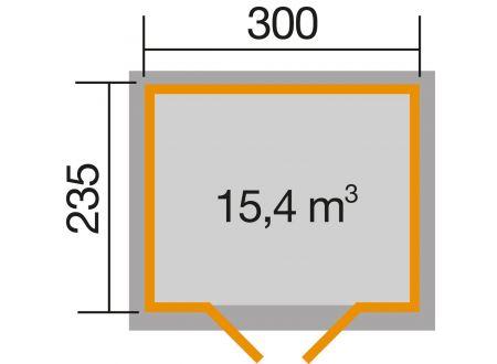 Weka Gartenhaus 122 Größe:Größe 4 Farbe:schwedenrot