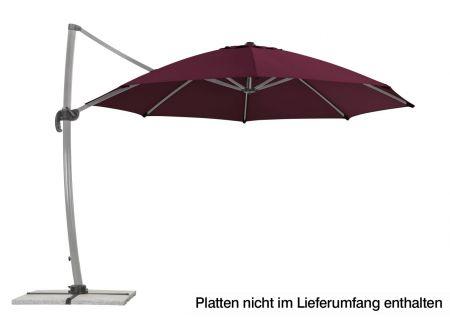 Schneider Schirme Ampelschirm Rhodos Rondo 350-8 Farbe:bordeaux