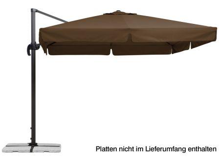 Schneider Schirme Ampelschirm Rhodos 300x300-8 Farbe:mocca