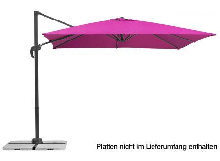 Schneider Schirme Ampelschirm Rhodos Junior 270x270-8 Farbe:berry