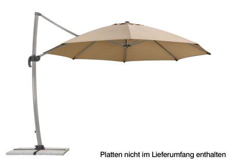 Schneider Schirme Ampelschirm Rhodos Rondo 350-8 Farbe:sand