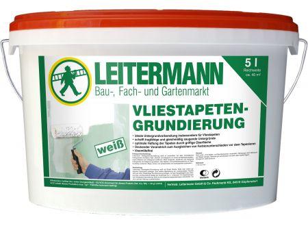 Baufan Bauchemie Leitermann Vliestapeten-Grundierung Inhalt:10l