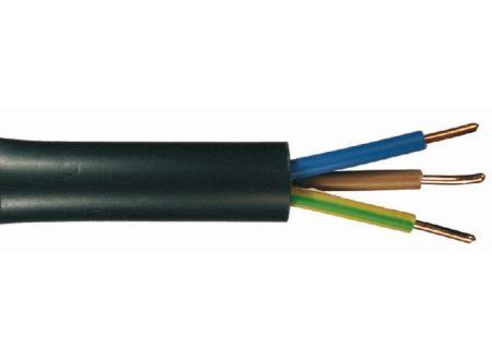 Erdkabel NYY-J  schwarz Ausführung:3x1,5mm² Länge:10m-Ring
