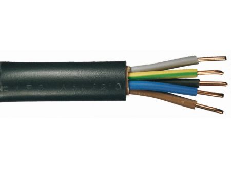 Erdkabel NYY-J  schwarz Ausführung:5x1,5mm² Länge:50m-Ring