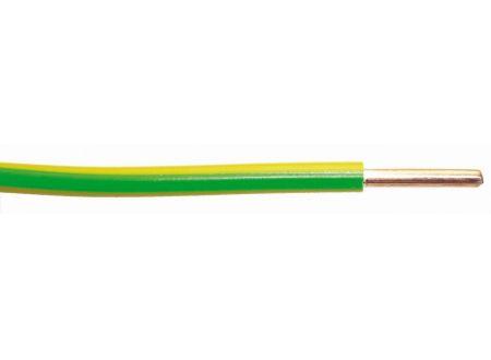 Aderleitung H07 V-U  Ausführung:1G6mm² Länge:5m-Ring Farbe:grün/gelb