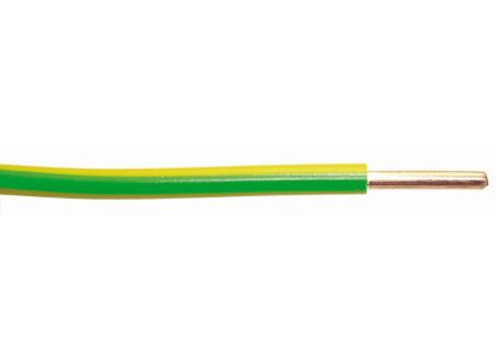 Aderleitung H07 V-U  Ausführung:1G6mm² Länge:10m-Ring Farbe:grün/gelb