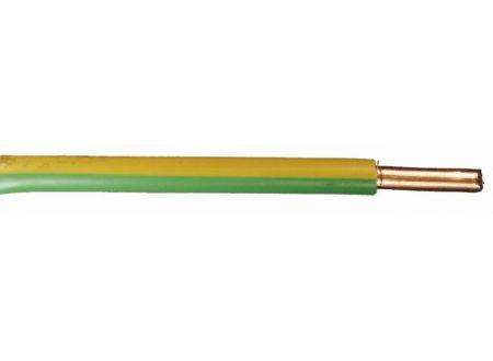 Aderleitung H07 V-U  Ausführung:1G10mm² Länge:10m-Ring Farbe:grün/gelb