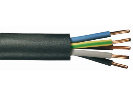 Erdkabel NYY-J schwarz Ausführung:5x2,5mm² Länge:20m-Ring