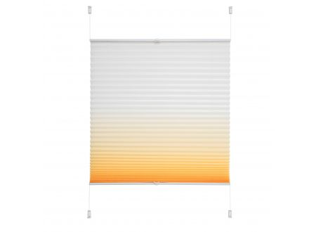 Liedeco Klemmfix Plissee Farbverlauf 050 x 130cm Orange bei handwerker-versand.de günstig kaufen