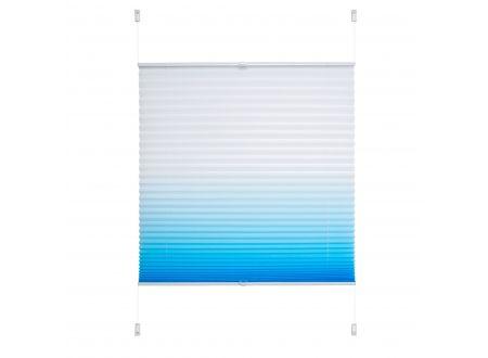 Liedeco Klemmfix Plissee Farbverlauf 080 x 210cm azurblau bei handwerker-versand.de günstig kaufen