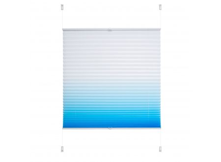 Liedeco Klemmfix Plissee Farbverlauf 090 x 130cm azurblau bei handwerker-versand.de günstig kaufen