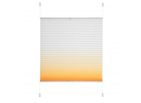 Liedeco Klemmfix Plissee Farbverlauf 090 x 130cm Orange bei handwerker-versand.de günstig kaufen