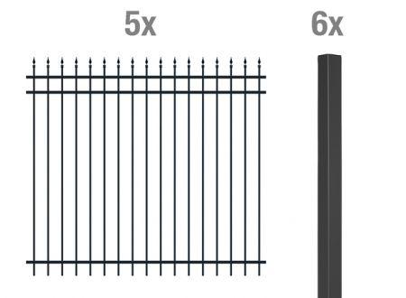 ALWA Grundset Zierzaun Columbus 10m Ausführung:zum Einbetonieren