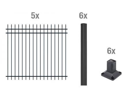 ALWA Grundset Zierzaun Columbus 10m Ausführung:zum Aufschrauben