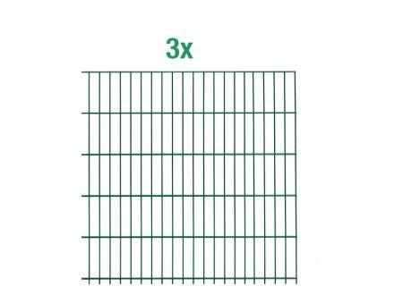 ALWA Einstab-Zaunmatten Inhalt:3 Stück Mattenbreite x Höhe:2000 x 750mm Farbe:grün
