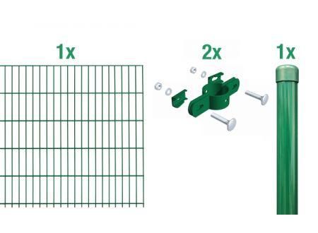 ALWA Einstab-Zaunmatten-Anbauset 2m Mattenbreite x Höhe:2000 x 750mm Farbe:grün