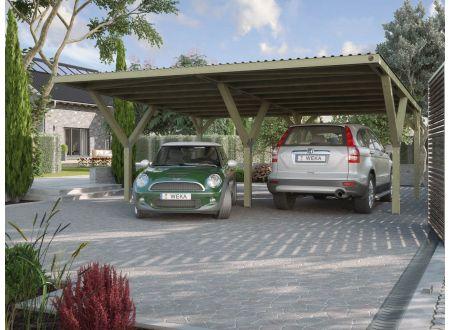 Weka Y-carport Größe:Doppelcarport Ausführung:mit Dach