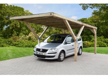 Weka Y-carport Größe:Einzelcarport Ausführung:mit Dach