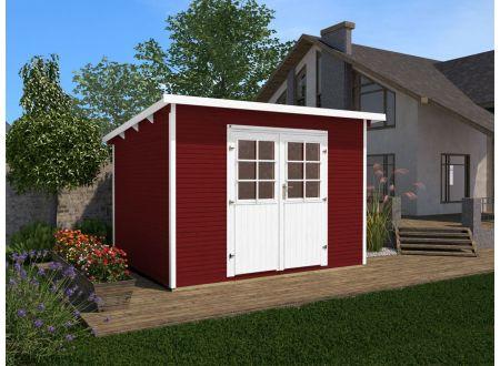 Weka Gartenhaus 219 Größe:Größe 2 Farbe:rot