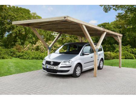 Weka Y-carport Größe:Einzelcarport Ausführung:ohne Dacheindeckung